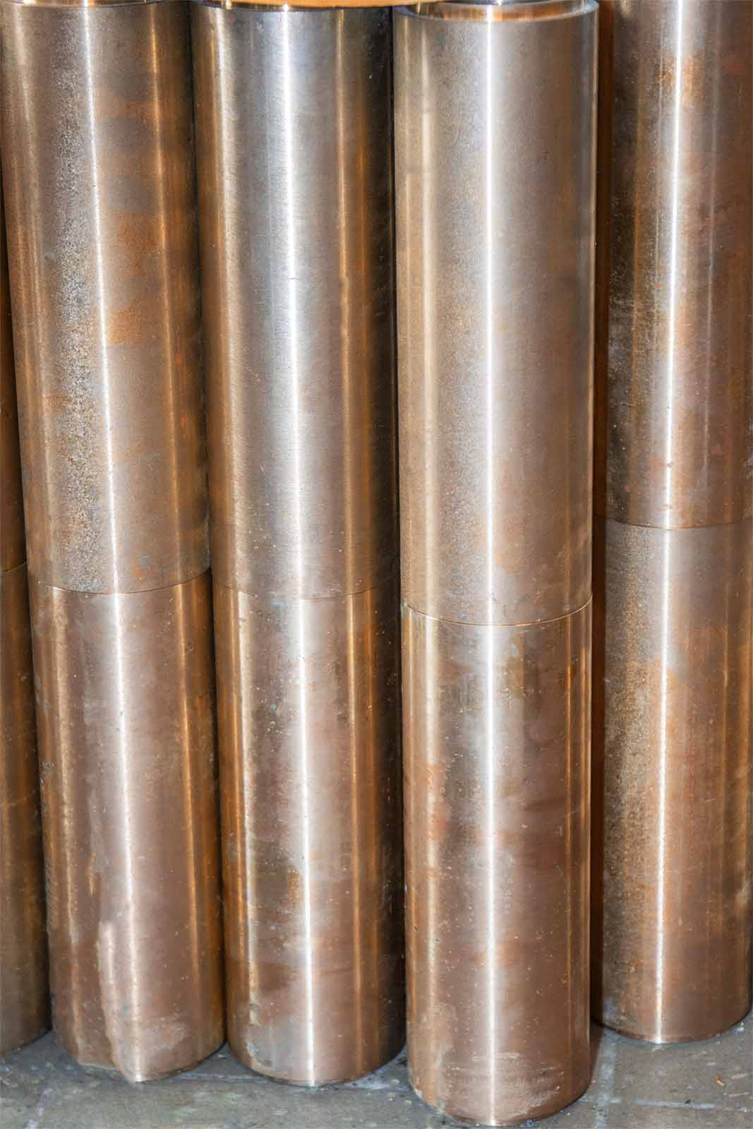 Цилиндрическая бронзовая мишень (анод) для установки вакуумного ионно-плазменного напыления